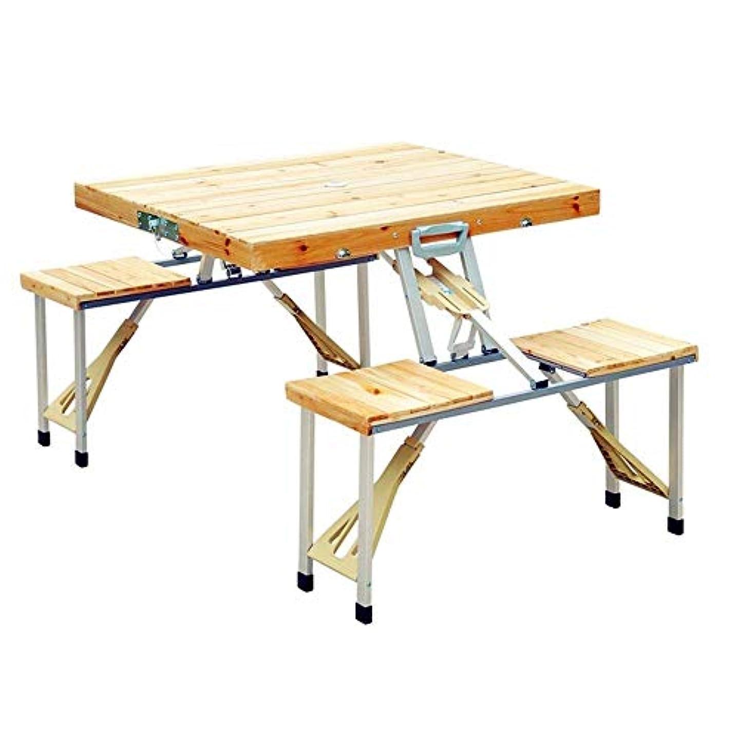育成ボランティアバンジージャンプ木製折りたたみピクニックテーブルと椅子セットポータブル軽量丈夫な耐久性のあるスーツケース屋外屋内キャンプバーベキューガーデンテラスパーティー自動運転ビーチヤード