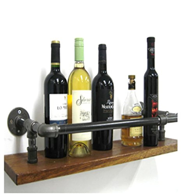 ワインラック、ロフト錬鉄製のパイプ無垢材の壁掛けワインラックバーワインラック、ディスプレイスタンド (サイズ さいず : 50cm)