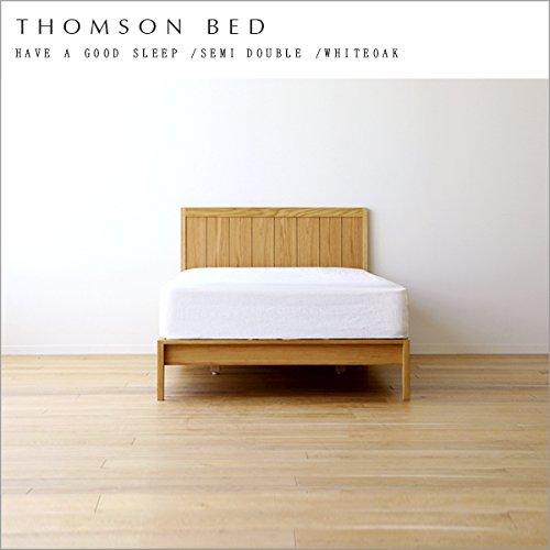 【takano_mokkou 高野木工 トムソンベッド THOMSON BED セミダブル ホワイトオーク】フレームのみ ベッド セミダブル 木製 北欧 すのこ フレーム すのこベッド 無垢 ナチュラル セミダブルベッド 天然木