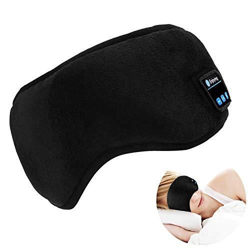 【母の日】LC-dolida 睡眠 アイマスク Bluetooth 安眠 遮光 通気 究極の柔らかシルク質感 USBアイマスク 圧迫感なし 軽量 失眠対策 眼精疲労 疲労回復 快眠グッズ 旅行 出張 休息専用 ブラック