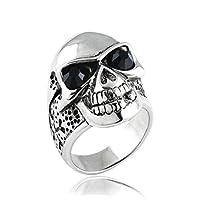OAKKY 高品質 ジュエリー メンズ リング ステンレス 研磨 宝石のデザイン 指輪 サイズ 26(ブラック)
