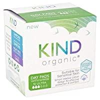 [Kind Organic] パックあたりの翼10との種類の有機日パッド - Kind Organic Day Pads with Wings 10 per pack [並行輸入品]