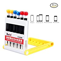 iPhone 8 iPhone 8P Repair Tools Screwdriver Repair Kit iPhone 7 7 Plus 6S suitable for all iPhone Samsung Huawei and Other Devices 6 in 1 Precision Screwdrivers [並行輸入品]