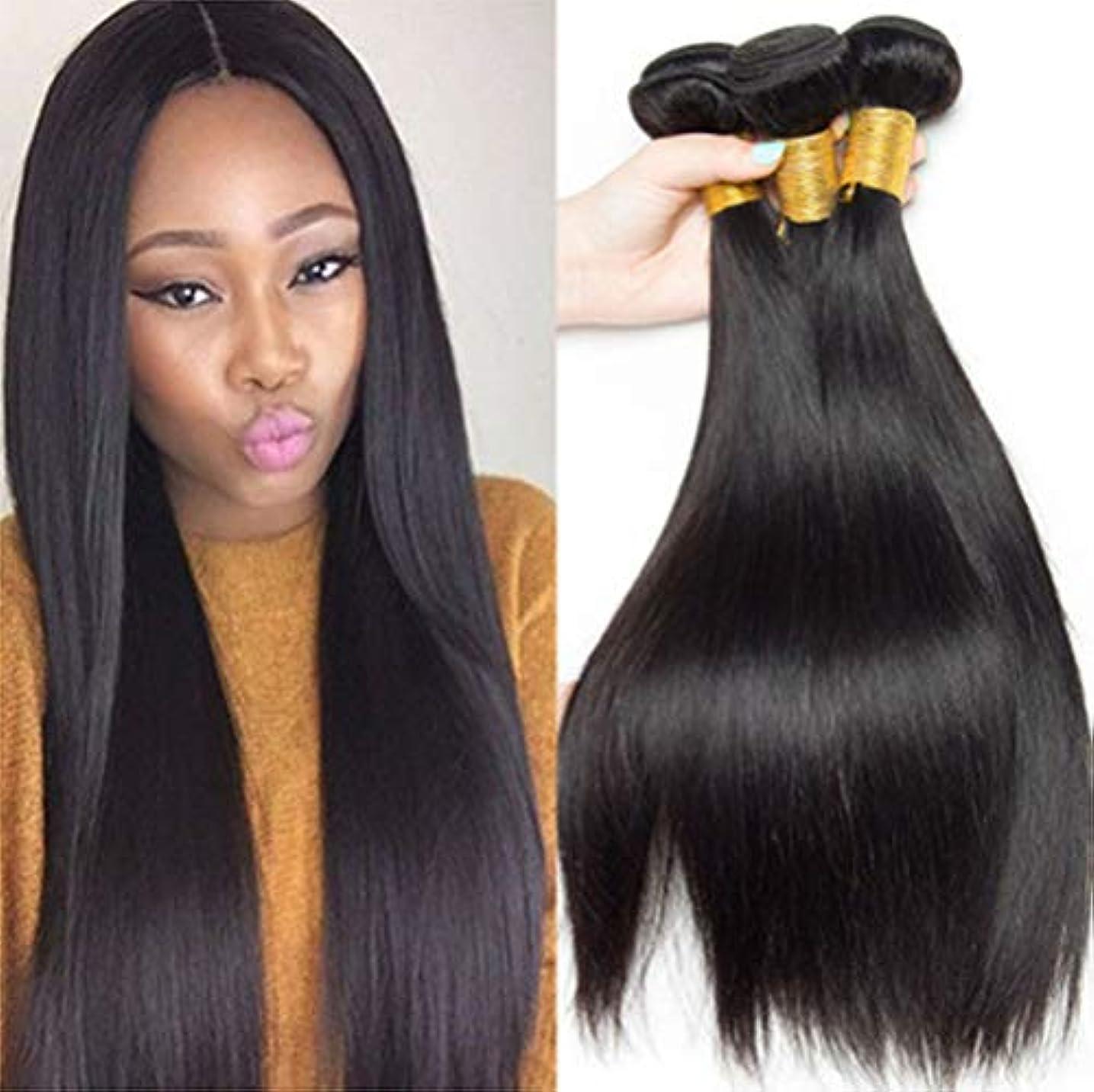 書士ゴルフ押し下げる女性の髪織り密度150%ロング1バンドルブラジルレミーペルーストレートヘアロングストレート人間の髪