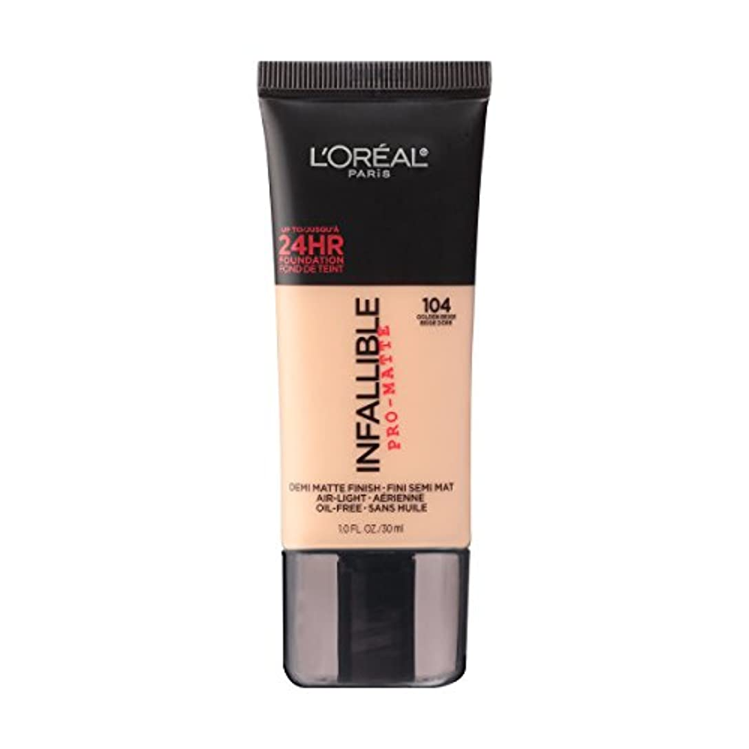 (3 Pack) L'OREAL Infallible Pro-Matte Foundation - Golden Beige (並行輸入品)