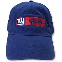 NFL Team Apparel New York Giants Slouch Women's Blue Adjustable Cap Hat