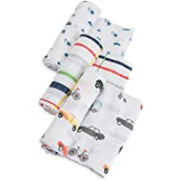 Little Unicorn Cotton Muslin Swaddle Blankets - Traffic Jam by Little Unicorn