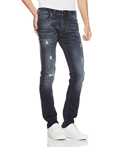 (ディーゼル) DIESEL メンズ ジョグジーンズ スリムスキニー THAVAR-NE Sweat jeans 00S5BL0685G 26 インディゴブルー 01