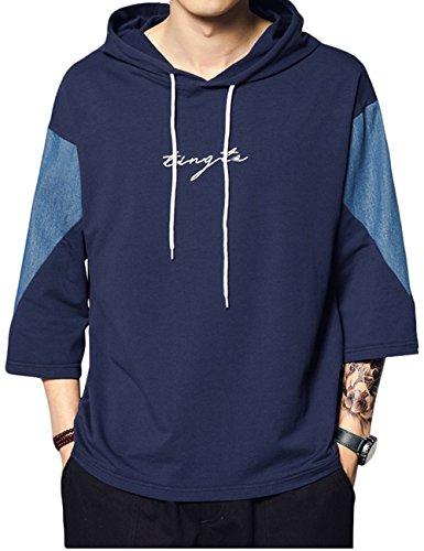 パーカー Tシャツメンズ 短袖 夏 半袖 7分袖 薄い ゆったり カジュアル プルオーバー ギフト スウェット シャツグラストア(Glestore)