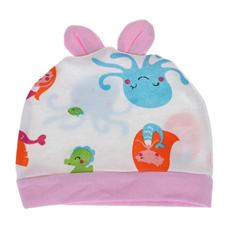 赤ちゃんの帽子、赤ちゃんの帽子漫画ビーニーウサギの耳ソフトコットンキャップ新生児幼児男の子女の子かわいいラブリー春秋の帽子子供服装飾 1個セットカラーRandomly2#