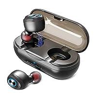 【Bluetooth 5.0 進化版+EDRが搭載】Bluetooth イヤホン 超小型 Hi-Fi高音質 3Dステレオサウンド 完全 イヤホン ワイヤレス ノイズキャンセリング 安定接続 プライムドライバー採用 ANOMOIBUDS ブルートゥース イヤホン 左右片耳両耳とも対応 自動ペアリング 自動ON/OFF 軽量 充電収納ケース付 マイク内蔵 Siri対応 CVC8.0ノイズキャンセリング iPhone/Android 対応