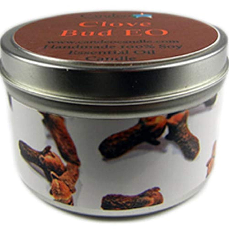 マラソン強い暖炉Clove Bud、スーパー香りつきSoy Candle Tin 6oz ホワイト 3880