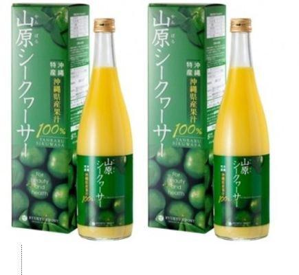 琉球フロント 山原(やんばる)シークヮーサー 沖縄県産 果汁100% 720ml ×2本セット