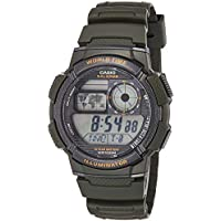 Casio AE-1000W-3AV Green Youth Series World Time Unisex Digital Sports Watch