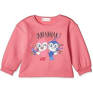 [ナカタ] アンパンマン オフショルダートレーナー トレーナーシリーズ ガールズ ピンク 日本 100㎝ (日本サイズ100 相当)