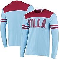 Aston Villa Official Mens Cut & Sew Long Sleeve T Shirt - Sky