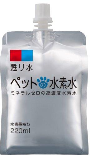 ペット用水素水【3本プラス】甦り水 ペットの水素水 220ml×33本 アルミ容器