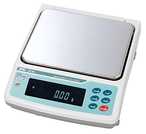 A&D 防塵・防水中量級天びん GF-8K ≪ひょう量:8.1kg 最小表示:0.01g 皿寸法:270(W)*210(D)mm 検定無≫