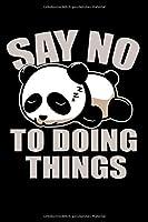 Notizbuch: Panda Faul Schlafen Nichts Tun Couch Geschenk 120 Seiten, 6X9 (Ca. A5), Karomuster