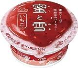 森永乳業 蜜と雪 いちご カップ150ml×18個