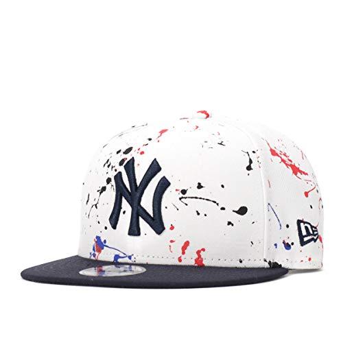 (ニューエラ) NEW ERA キッズ キャップ スナップバック 9FIFTY COLOR SPLASH MLB ニューヨークヤンキース ホワイト/ネイビー KIDS FREE (サイズ調整可能)