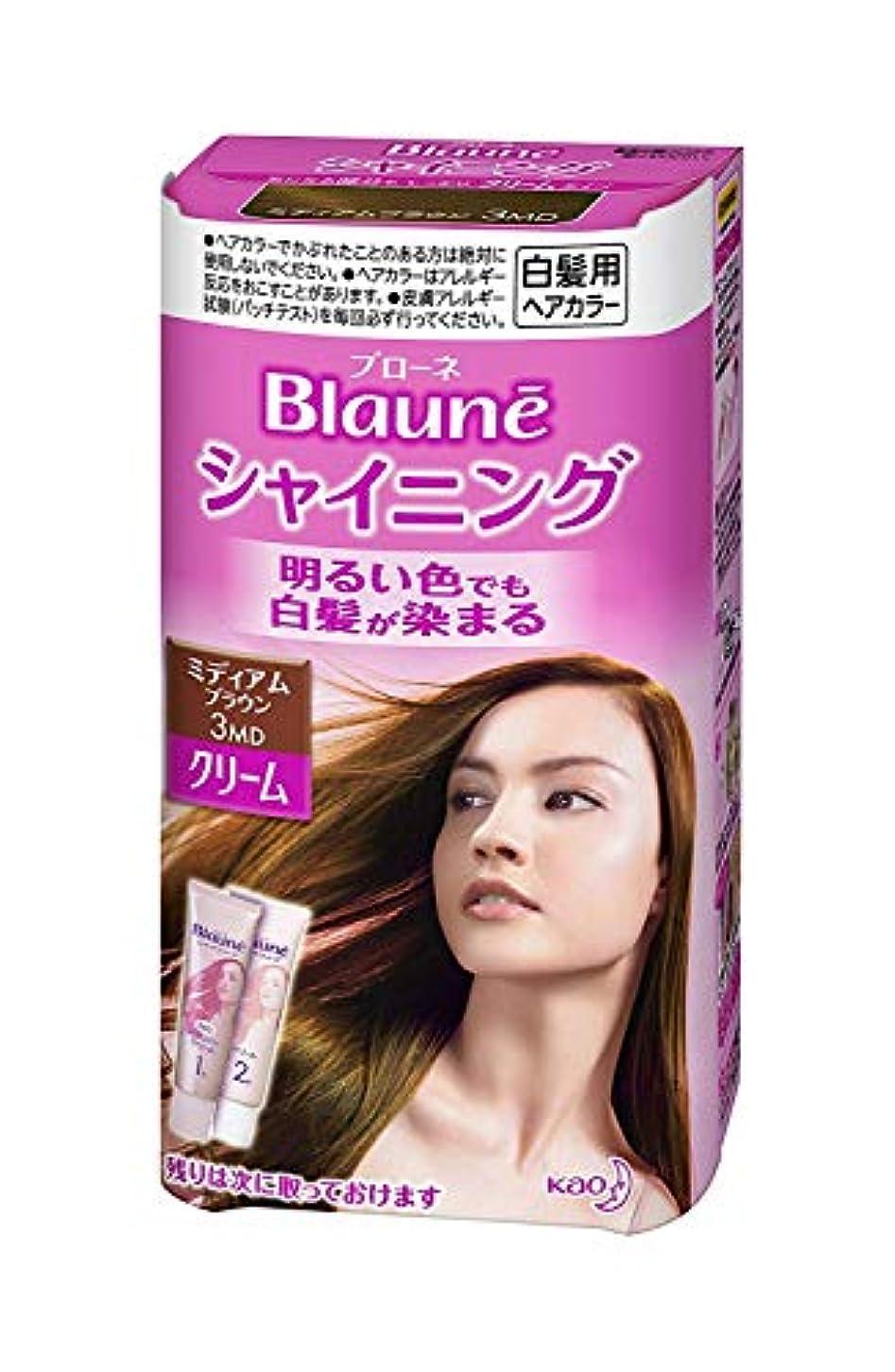 ローマ人抽象化すぐに【花王】ブローネ シャイニングヘアカラークリーム3MD ミディアムブラウン ×20個セット