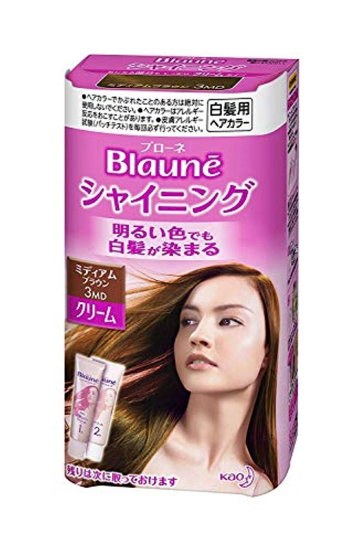 答え動機厳密に【花王】ブローネ シャイニングヘアカラークリーム3MD ミディアムブラウン ×10個セット