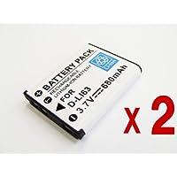 【バッテリー 2個セット】 PENTAX D-LI63 / D-LI108 互換 バッテリー Optio LS465 RS1000 NB1000 等 対応
