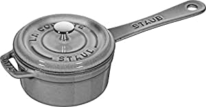 staub ストウブ 「 スモール ソースパン グレー 10cm 」 片手 ホーロー 鍋 【日本正規販売品】 Sauce pan 40509-536
