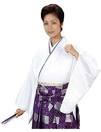 袴下着物 きもの メンズ レディース 仕立上がり 舞台 舞踊 白色 5541