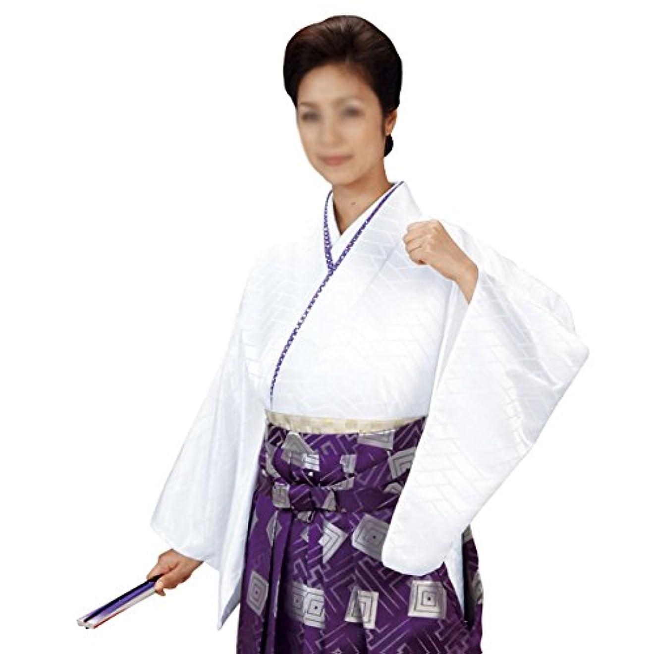大気リングレット苦情文句袴下着物 きもの メンズ レディース 仕立上がり 舞台 舞踊 白色 5541