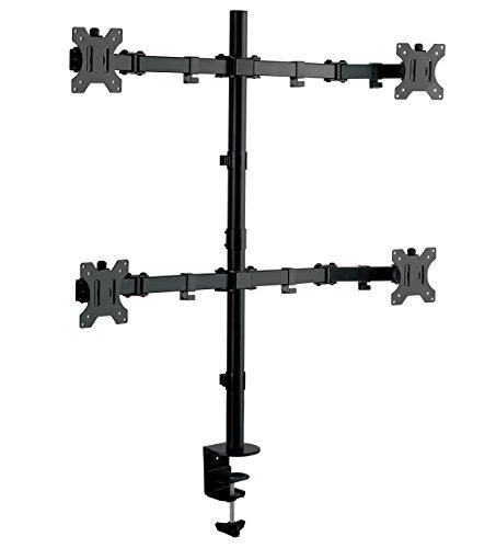 グリーンハウス 液晶ディスプレイアーム 5軸 クランプ式 4アームモデル (モニターサイズ:32インチまで) GH-AMCG03