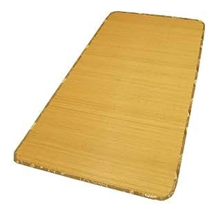 丈夫でひんやり 竹シーツ 『ひんやり竹』 ブラウン シングル 90×180cm