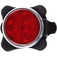 MKchung USB充電 自転車ヘッドライト テールライト 安全警告灯 サイクリング 自転車 4 LEDヘッド フロントライト リアライト テールライト USB充電式 赤い光