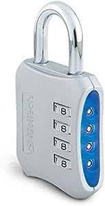 (Silver) - iGotTech Heavy Duty Gym Lock: 4 Digit Combination Padlock