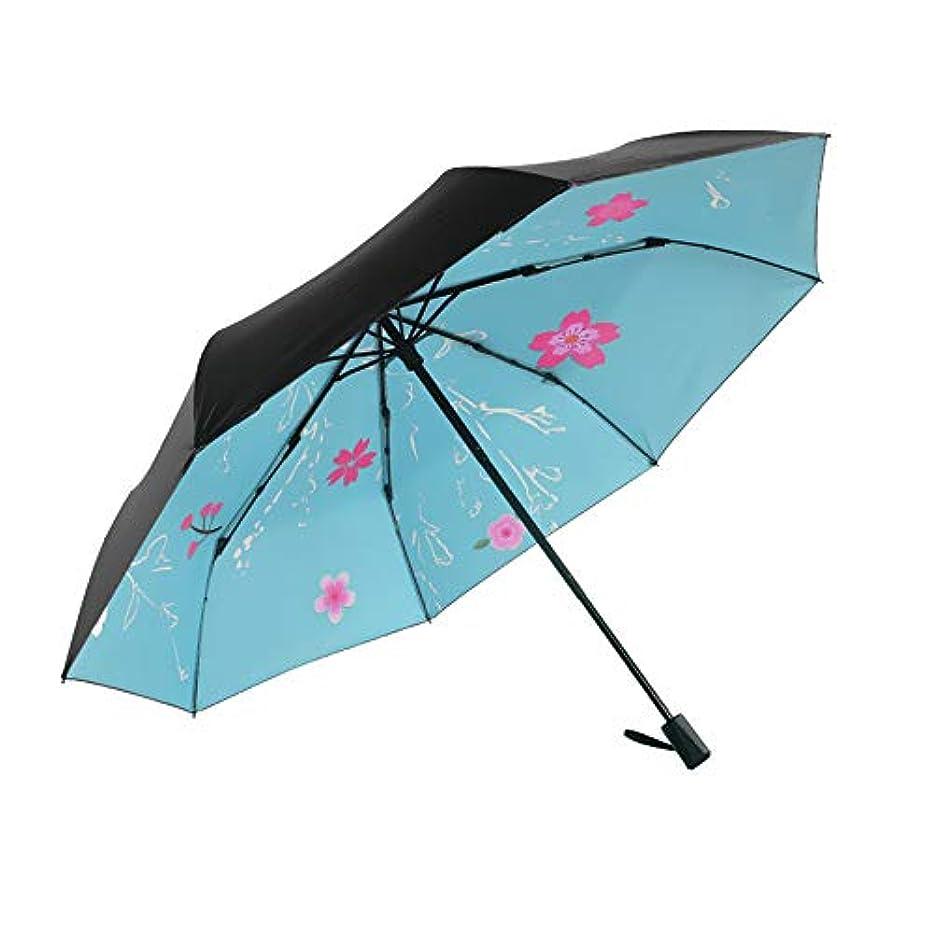 選択するレンダリングなる傘の男性と女性の雨と雨のデュアルユースマニュアル三つ折り傘