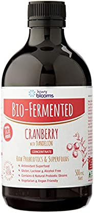 Henry Blooms Bio-Fermented Probiotic Cranberry with Dandelion Concentrate, 500ml