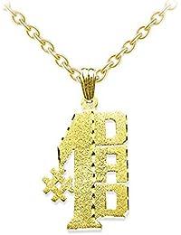 Personalized # 1 Dadサテンダイヤモンドカットネームプレートネックレス20 mmスターリングシルバーまたは黄色ゴールドメッキシルバー