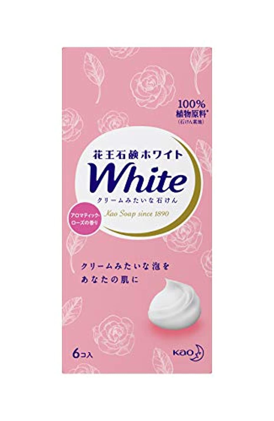 放課後乱雑なたまに花王ホワイト アロマティックローズの香り 普通サイズ 6コパック