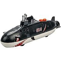 Jollymap 合金サメの模造 おもちゃ、ウォーシップモデル、アコースティック、プルバック、ゴーサブマリンモデル、男の子と子供のおもちゃ