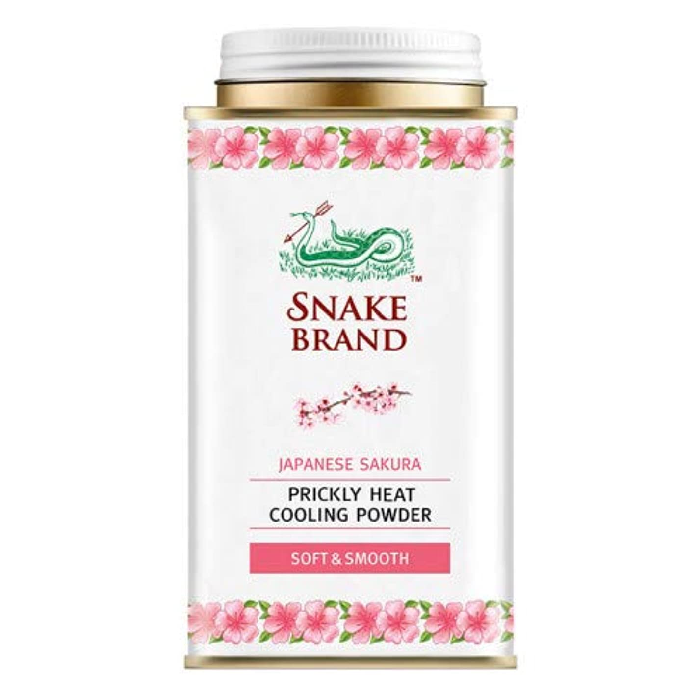 無数のスキャンダル元に戻すSnake Brand Prickly Heat Cooling Powder, good for heat rash 140 g. (Japanese Sakura)