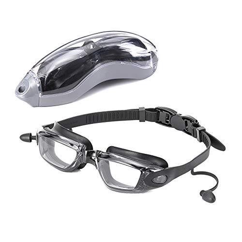 スイミングゴーグル 水泳ゴーグル 防曇メガネ水中眼鏡 男女兼用 … (ブラック)
