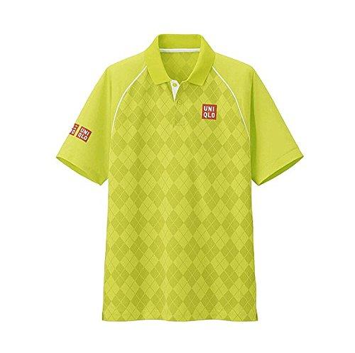 【UNIQLO】ユニクロ MEN NK ドライEXポロシャツ (半袖) (錦織 圭・2015年全米モデル) (L, YELLOW)