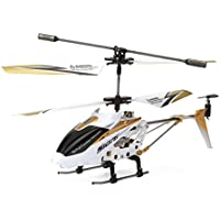 Syma S107G 3 Channel RC Helicopter with Gyro, White [並行輸入品]