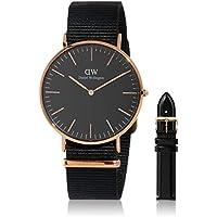 Gift Set Classic Black Cornwall Watch  40mm + Classic Sheffield Watch Band RG 20mm
