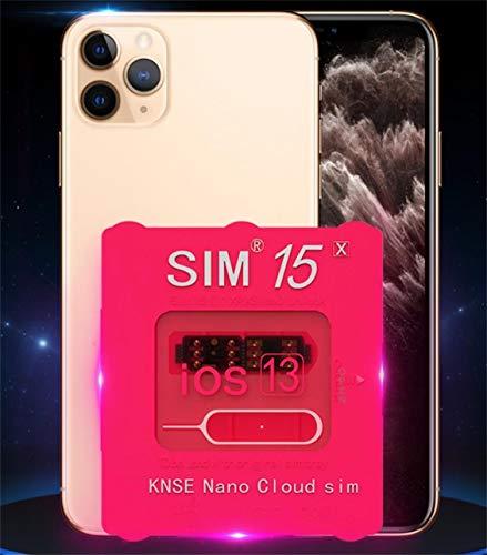 R- Unlock Sim15 ロック解除アダプタ iOS13 対応 SIM Unlock アンロック SIMフリー Kayyoo 解除アダプター Nano Cloud Sim auto 4G iPhone 11 / 11 Pro / 11 Pro Max/XS/XS Max/XR/X / 8 / 8 Plus / 7 / 7 Plus / 6S / 6S Plus 適応 (Sim15)