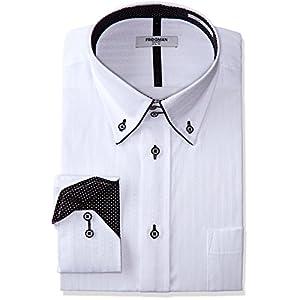 (アトリエサンロクゴ) atelier365 ワイシャツ 白系ドビー織 デザインシャツ Yシャツ 形態安定 ビジネスシャツ ドレスシャツ 長袖/sun-ml-sbu-1109-3L-45-85-AT351-4-AW16