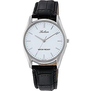 [シチズン キューアンドキュー]CITIZEN Q&Q 腕時計 Falcon ファルコン アナログ 革ベルト ホワイト QA00-301 メンズ