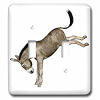 Boehmグラフィックス動物–Donkey Kicking to the Back–照明スイッチカバー–ダブルトグルスイッチ( LSP _ 62974_ 2)