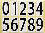 ユポ ナンバーシールステッカー 大きい 防水 PP加工 耐候性 0~9 番号 数字 10種各1片(=33x66mm/片)x1シート